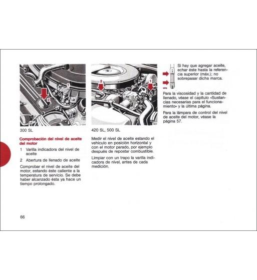 Manual Mercedes Benz 280 SE | Instrucciones de Servicio | W116