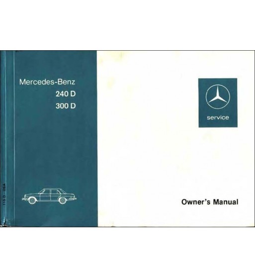 Mercedes Benz 230 CE Manual | Owner's Manual | W124