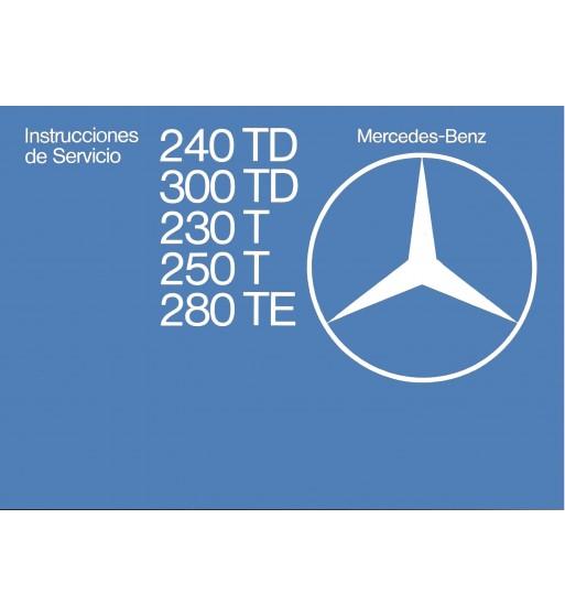 Manual Mercedes Benz 560 SEC | Instrucciones de Servicio | W126