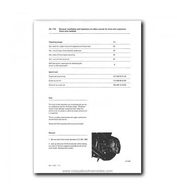Mercedes Benz Model 114 / 115 Service Manual Library