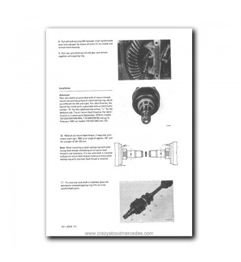 Mercedes Benz Maintenance Manual USA Model Year 1972-1980