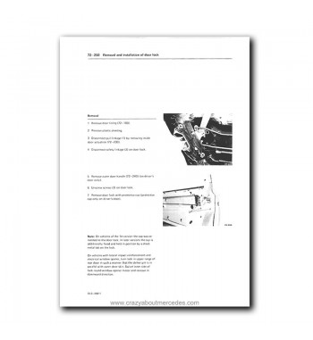 Mercedes Benz Maintenance Manual Model Year 1981-1993