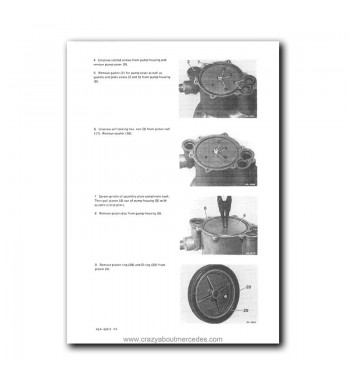 Mercedes Benz Service Manual Maintenance, Tuning, Unit Replacement Passenger Cars Starting August 1959 | Volume 1