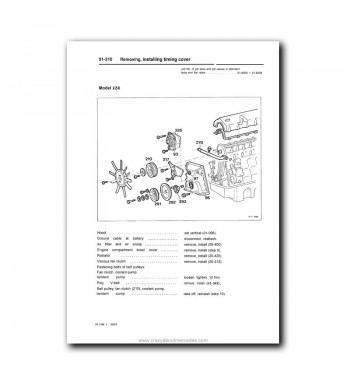 Mercedes Benz Service Manual Engine 103