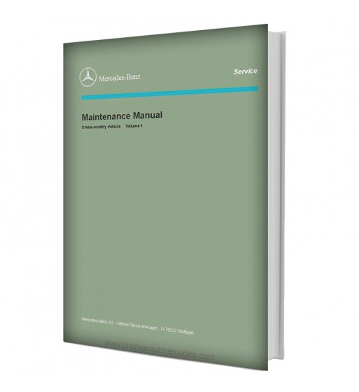 Mercedes Benz Maintenance Manual Cross-country Vehicle | Volume 1 (Supplement 6)