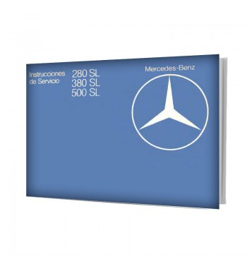 Mercedes Benz 380 SL Manual | Instrucciones de Servicio | W107.