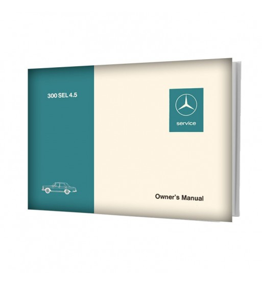 Mercedes Benz 300 SEL 4.5 Owner's Manual W109