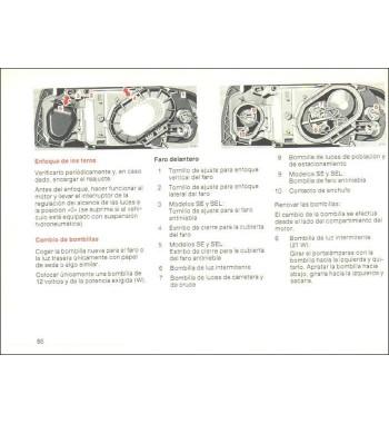Mercedes Benz Manual Instrucciones de Servicio W126