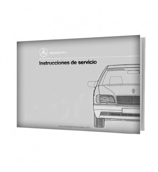 Manual Mercedes Benz Instrucciones de Servicio W140