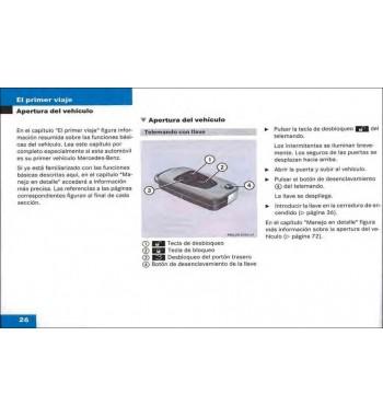 Manual Mercedes Benz Instrucciones de Servicio Clase M W163