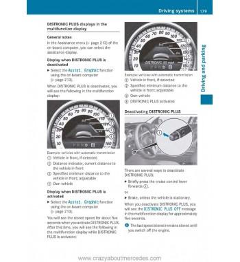 Mercedes Benz C-Class Operator's Manual W204