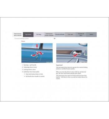 Mercedes Benz CLK-Class Cabriolet Operator's Manual W208