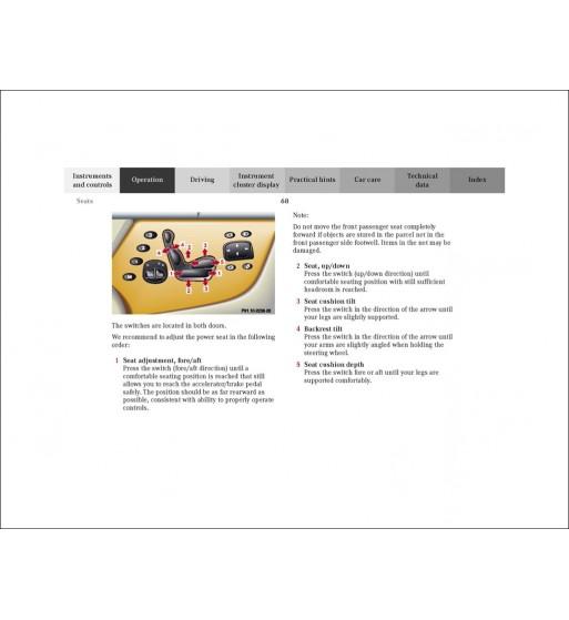 Mercedes Benz CLK 430 Manual | Operator's Manual CLK Cabriolet | W208
