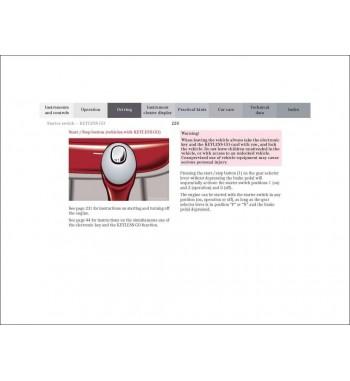 Mercedes Benz CLK 55 AMG Manual | Operator's Manual CLK Cabriolet | W208