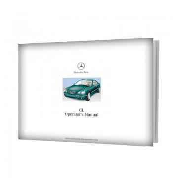 Mercedes Benz CL Operator's Manual W215