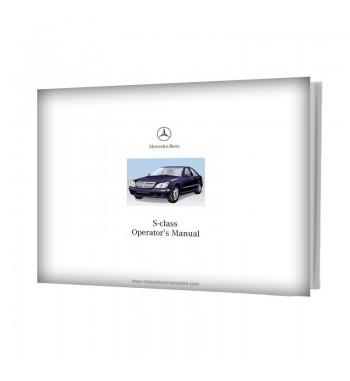 Mercedes Benz S-Class Operator's Manual W220