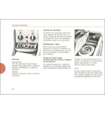 Manual Mercedes Benz 280 SL | Instrucciones de Servicio | W107