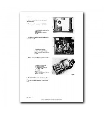 Mercedes Benz Service Manual  Heating, Air Conditioning, Automatic Climate Control Model 107