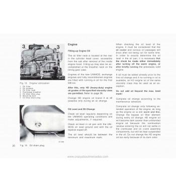 Mercedes Benz UNIMOG U416 Instruction Manual