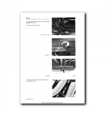 Mercedes Benz Service Manual Engines M 110