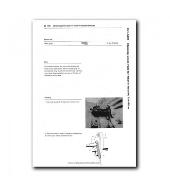 Mercedes Benz Service Manual Clutch & Transmission 4-Speed Manual