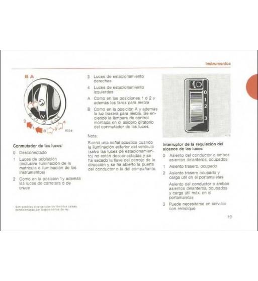 Mercedes Benz 420 SL Manual | Instrucciones de Servicio | W107