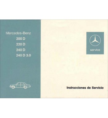 Mercedes Benz 240 D 3.0 Manual   Instrucciones de Servicio   W115