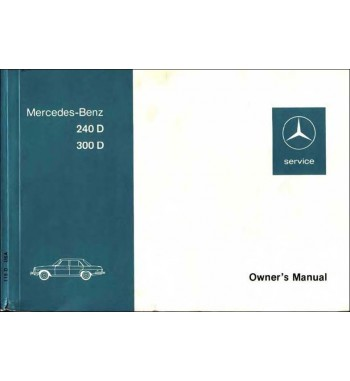Mercedes Benz 300 D Manual | Owner's Manual | W115