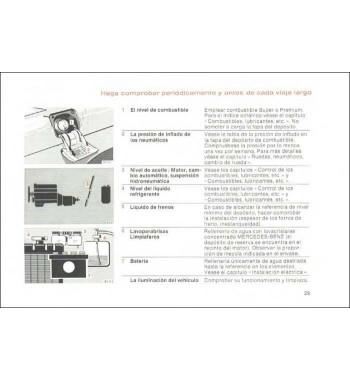 Manual Mercedes Benz 280 S | Instrucciones de Servicio | W116