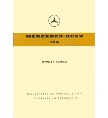 Manual Mercedes Benz 180 Dc | Owner's Manual | Pontón W120
