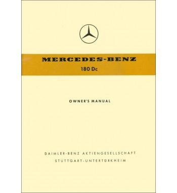 Mercedes Benz 180 Dc Manual | Owner's Manual | W120 Ponton