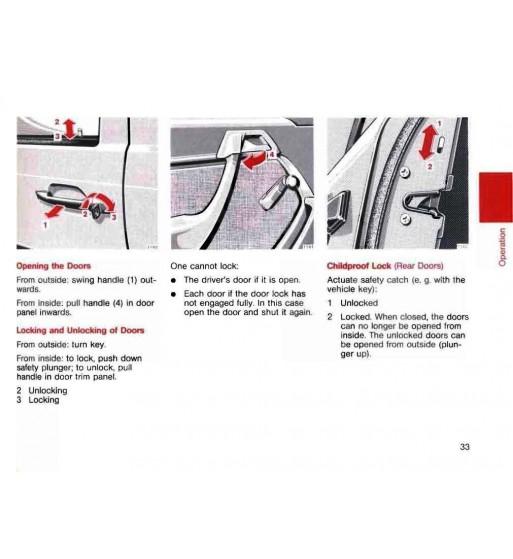 Mercedes Benz 400 SEL Manual | Instrucciones de Servicio | W140