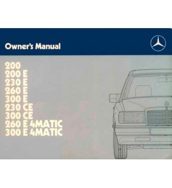 Manual Mercedes Benz 260 E 4Matic | Owner's Manual | W124