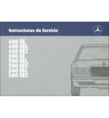 Manual Mercedes Benz 420 SE | Instrucciones de Servicio | W126