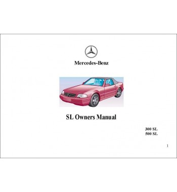 Manual Mercedes Benz 500 SL | SL Owner's Manual | R129