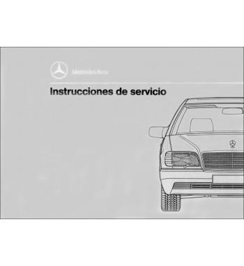 Mercedes Benz 400 SE Manual   Instrucciones de Servicio   W140