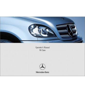 Mercedes Benz ML 500 Manual   Operator's Manual M-Class   W163