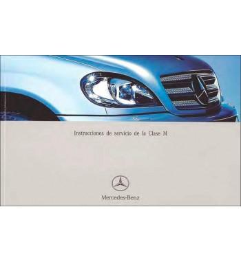 Mercedes Benz ML 500 Manual   Instrucciones de Servicio Clase M   W163
