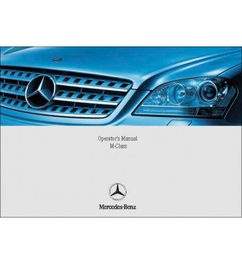 Mercedes Benz ML 320 CDI Manual | Operator's Manual M-Class | W164