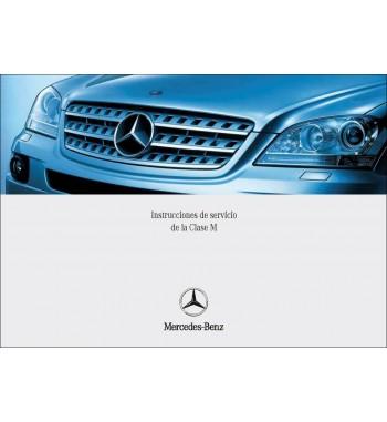 Manual Mercedes Benz ML 500   Instrucciones de Servicio Clase M   W164