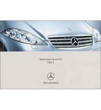 Mercedes Benz A 180 CDI Manual   Instrucciones de Servicio Clase A   W169