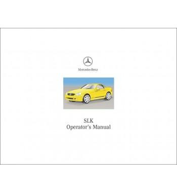 Mercedes Benz SLK 320 Manual | Operator's Manual | W170