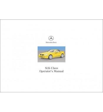 Mercedes Benz SLK 230 Kompressor Manual | SLK-Class Operator's Manual | W170