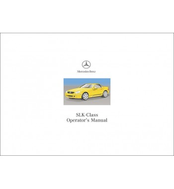 Mercedes Benz SLK 32 AMG Manual | SLK-Class Operator's Manual | W170