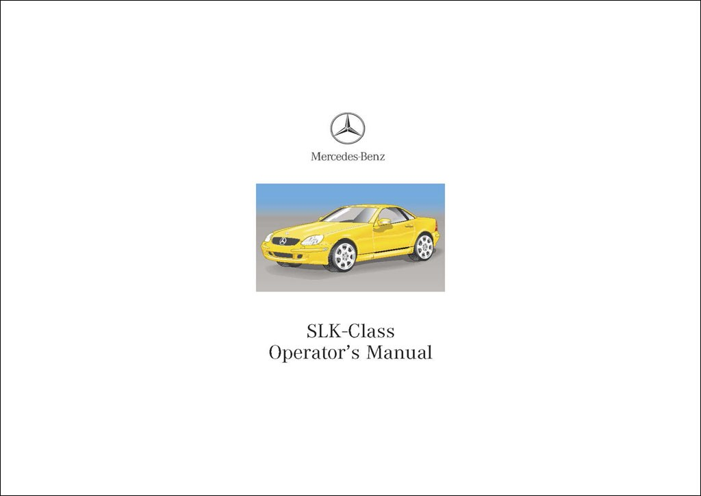 Mercedes Benz Manual | C 320 Sportcoupé | C-Class Sportcoupé Operator's  Manual | W203