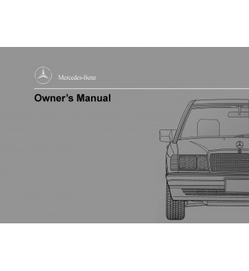 Manual Mercedes Benz 190 E 2.6 | Owner´s Manual | W201