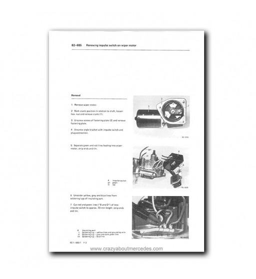Mercedes Benz Model 201 Service Manual Library