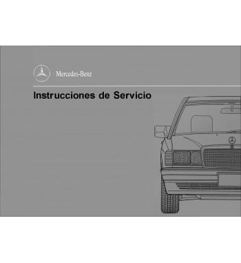 Manual Mercedes Benz 190 D 2.5 Turbo | Instrucciones de Servicio | W201