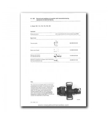 Mercedes Benz Service Manual Chassis & Body Series 114 / 115